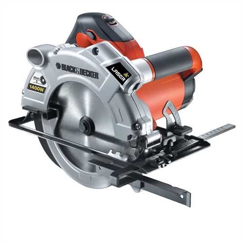 Black and Decker - Kotov pla 1 400 W s laserom a hbkou rezu 65 mm - KS1400L